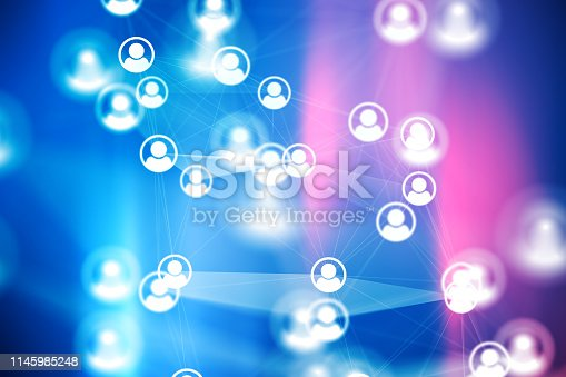 istock Social Network Connections icons on backgrounds 1145985248