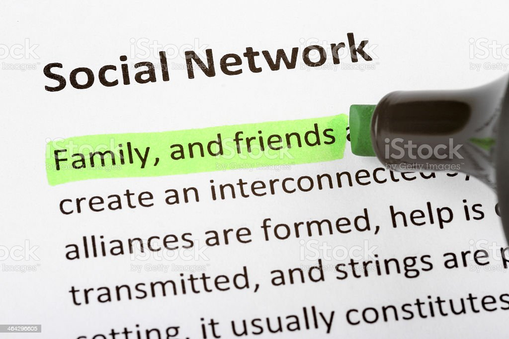 Social network definition stock photo more pictures of for Soil media definition