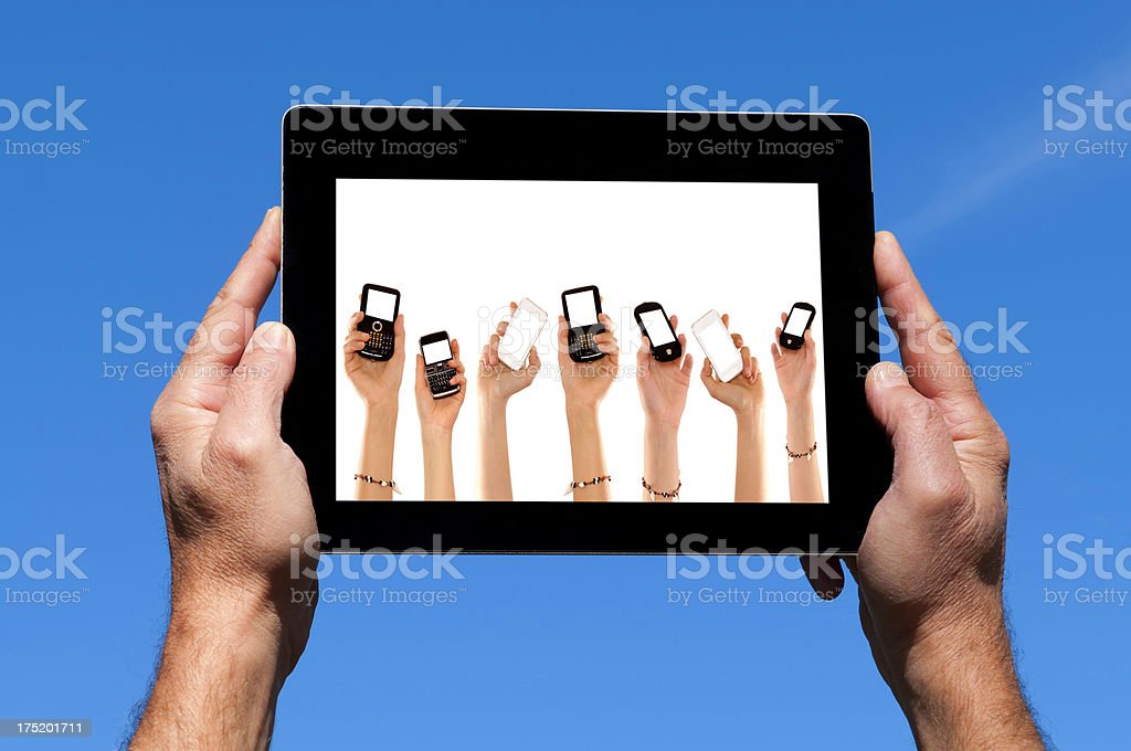 Social Network on Digital Tablet royalty-free stock photo