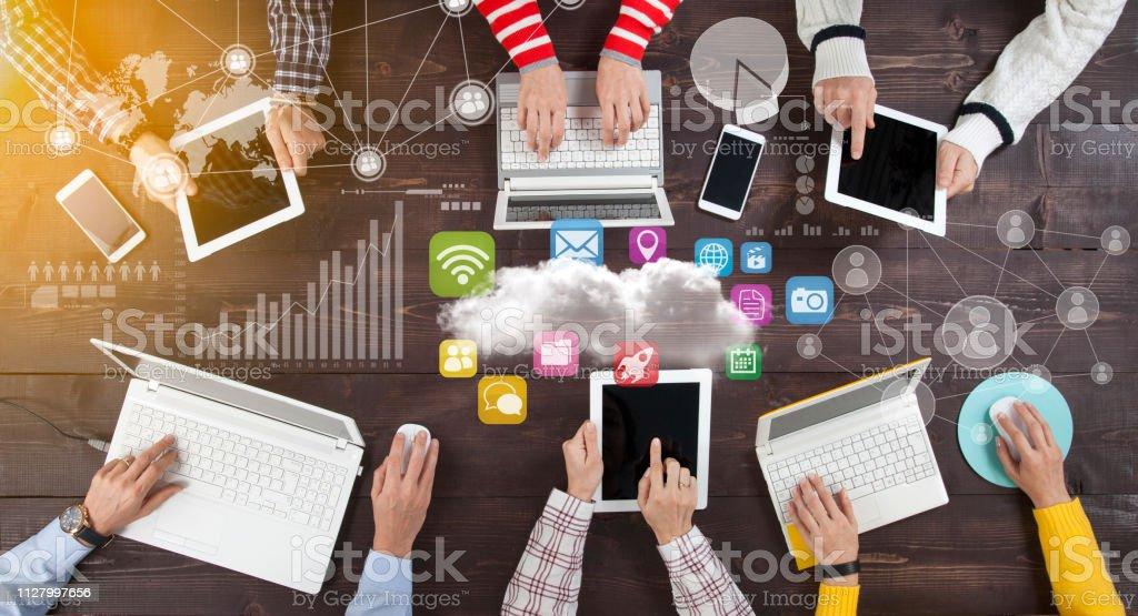 Social Network Online-Sharing Verbindung Konzept – Foto