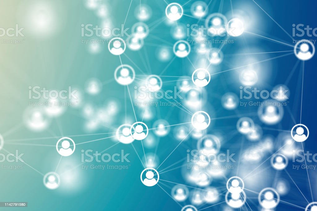 Social Network Social Network Backgrounds Connection Stock Photo