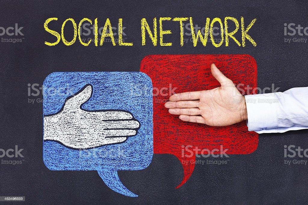 Soziales Netzwerk - Lizenzfrei Brainstorming Stock-Foto