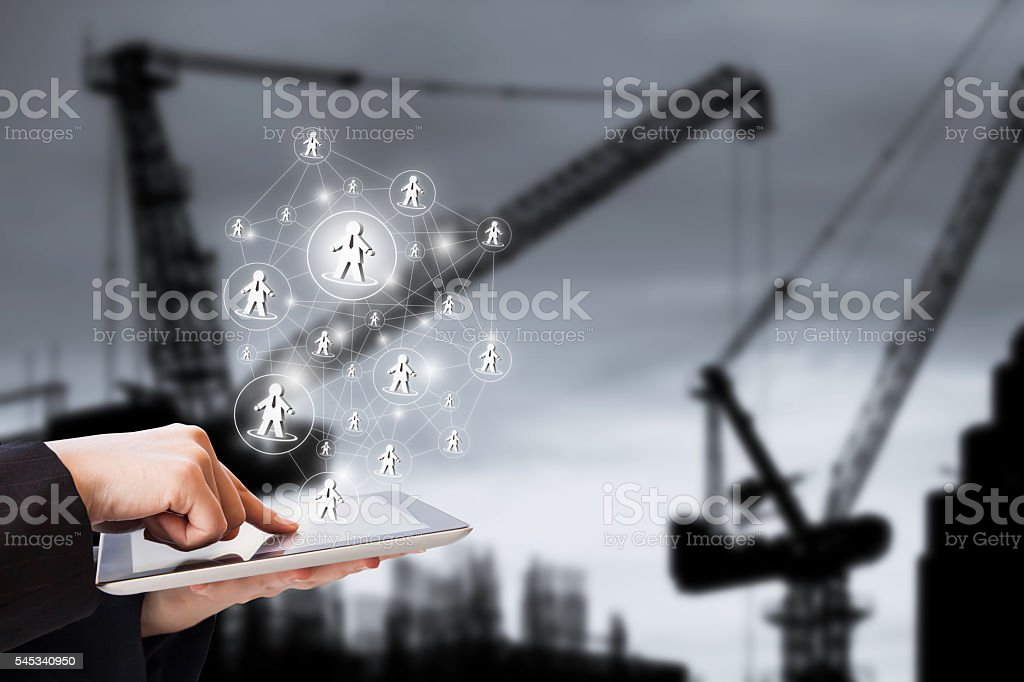 Social network  - foto stock