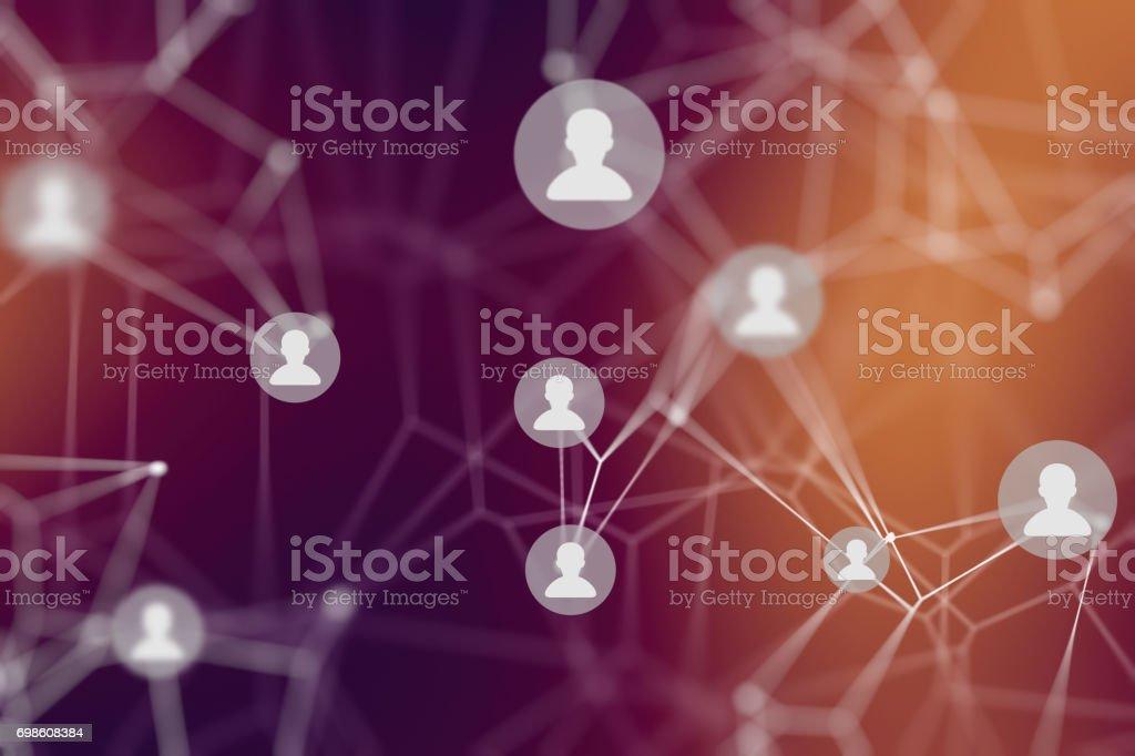 Sociala nätverk bildbanksfoto