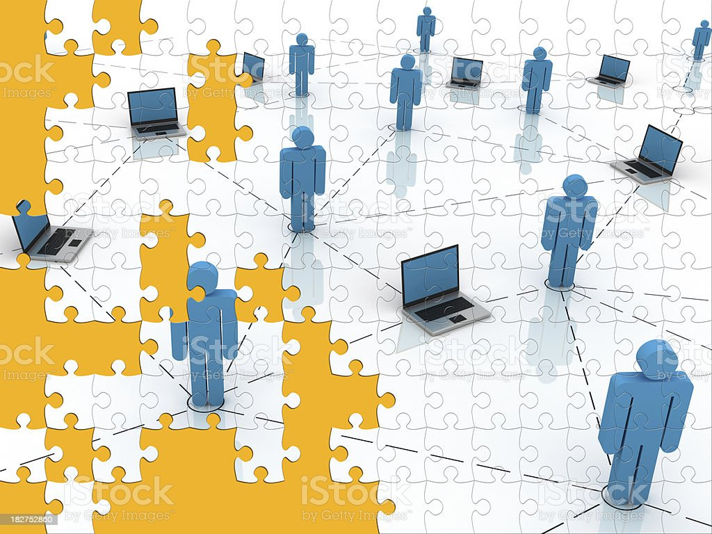 Social Network Puzzle royalty-free stock photo