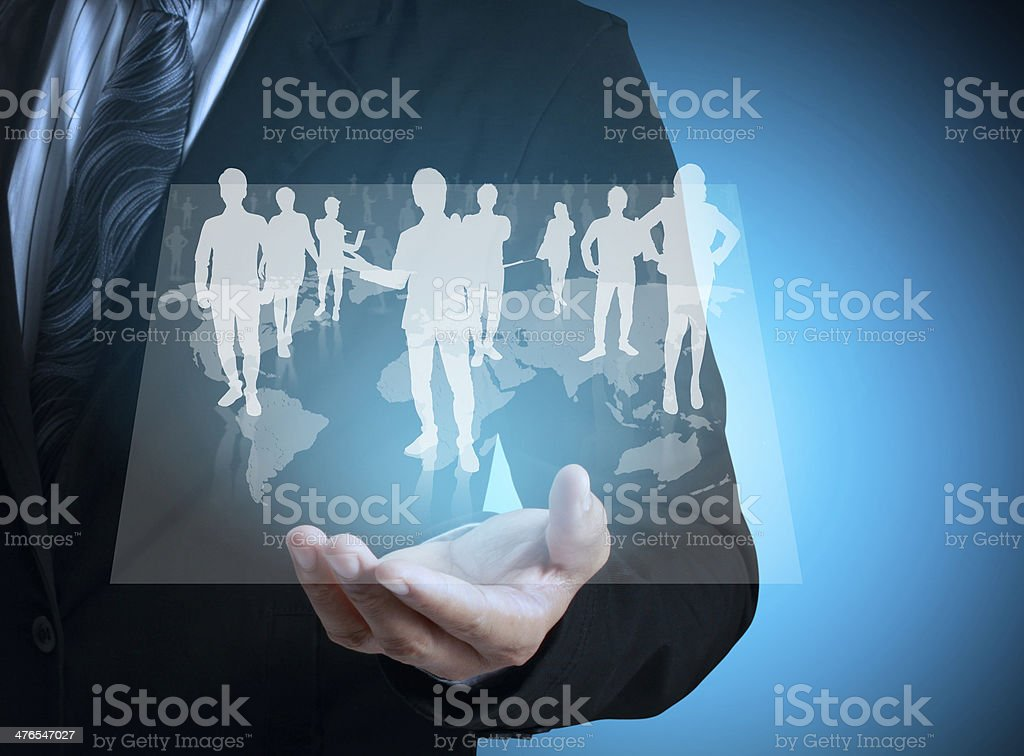 social network structure royalty-free stock photo