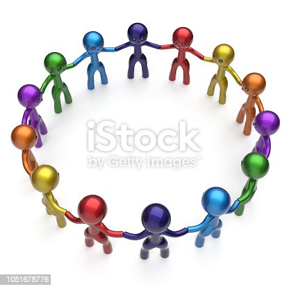 688200936istockphoto Social network stylized people teamwork men together circle 1051678776