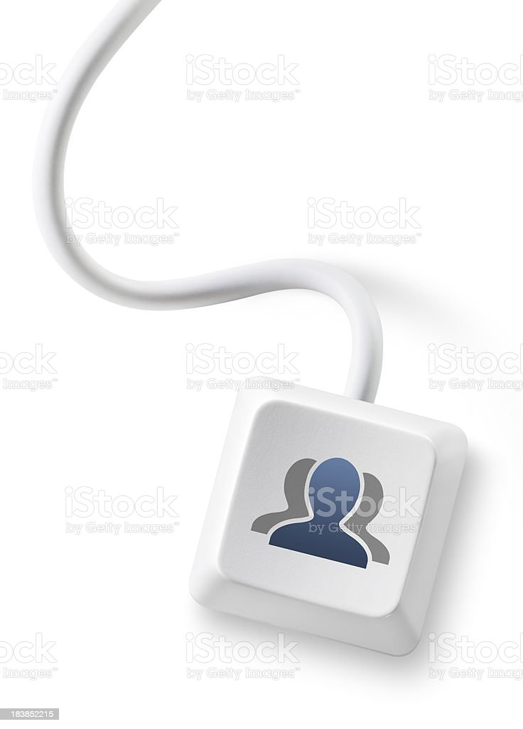 Social network users key. royalty-free stock photo