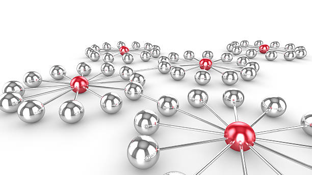 Social network with influencer stock photo