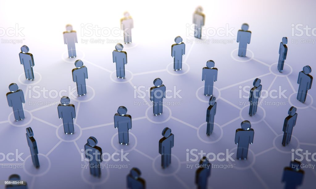 Social network,3d illustration royalty-free stock photo