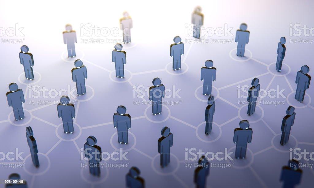 Social network,3d illustration stock photo