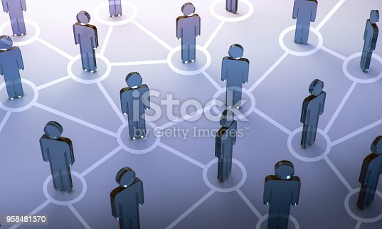 istock Social network,3d illustration 958481370