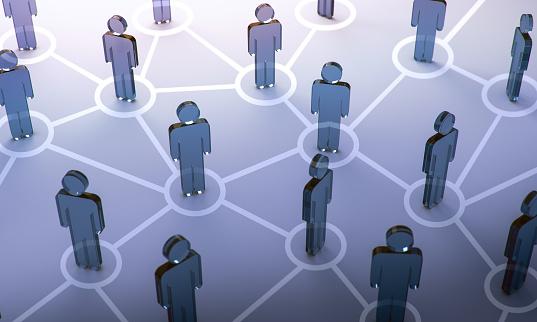 istock Social network,3d illustration 958481370