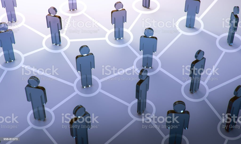 Social network,3d illustration stock photo