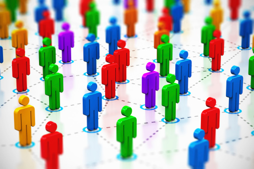 688372024 istock photo A social networking 3D figure concept 186408823