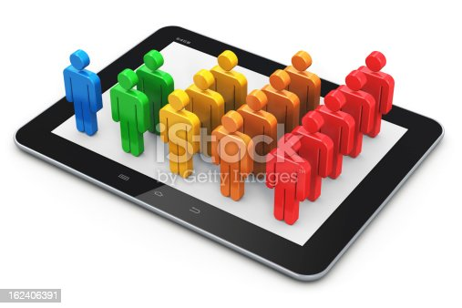 istock Social networking and client management concept 162406391