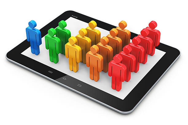 Social networking and client management concept stock photo