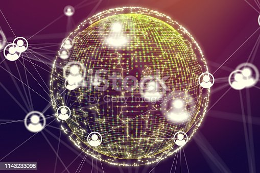 istock Social Networking and communication concept 1143233098