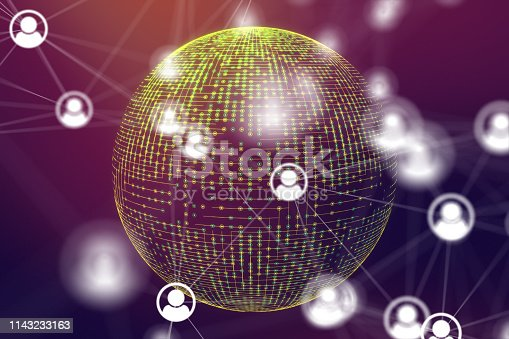 istock Social Networking and communication concept 1143233163