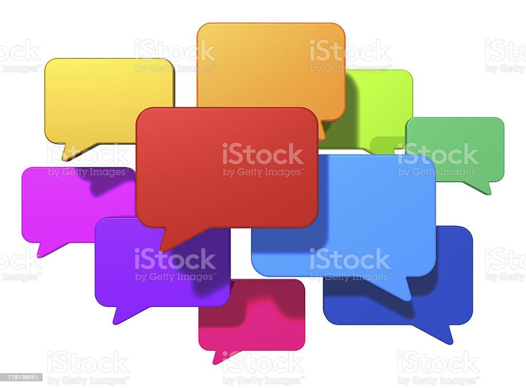 Social networking and internet messaging concept stock photo