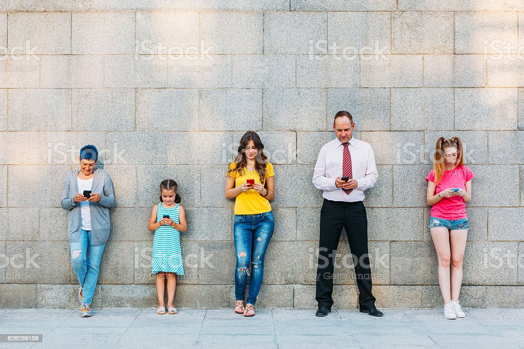 Social networking and technology stock photo