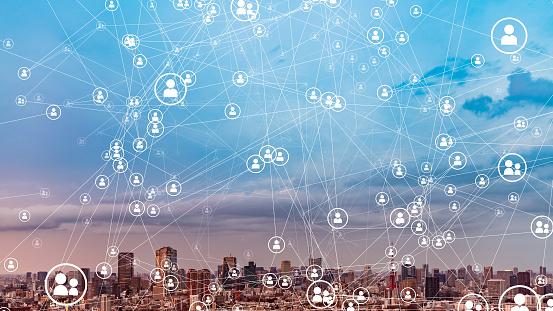 Social Networking Concept Communication Network - zdjęcia stockowe i więcej obrazów 5G