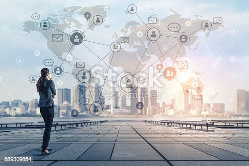 istock Social networking concept. Global business. Crowd sourcing. 889309854