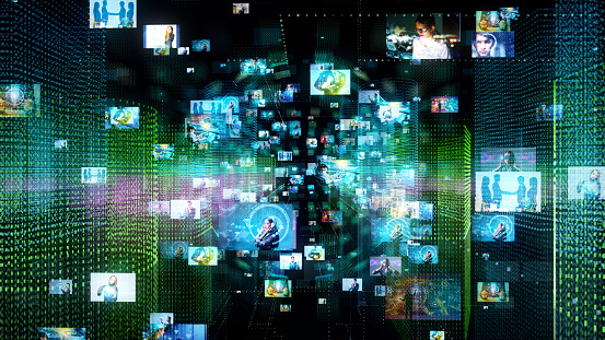 istock Social networking concept. 1129515239