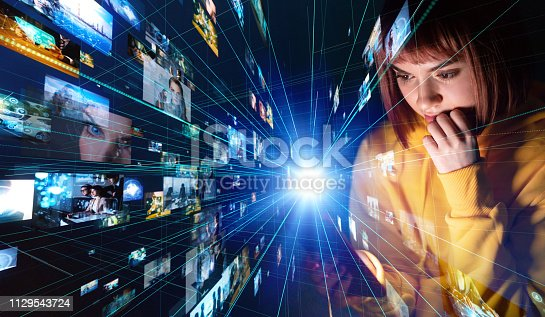 istock Social networking concept. 1129543724