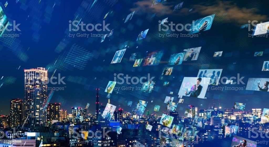 Social networking concept. Social networking concept. 5G Stock Photo