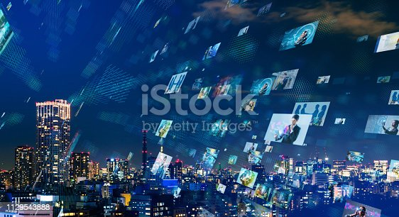 1146418904 istock photo Social networking concept. 1129543888