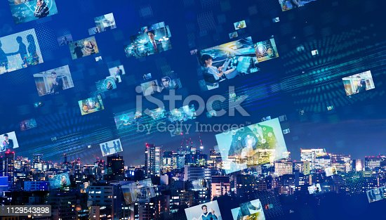 1146418904 istock photo Social networking concept. 1129543898