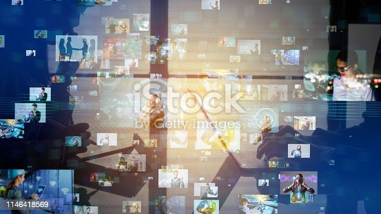 istock Social networking concept. 1146418569