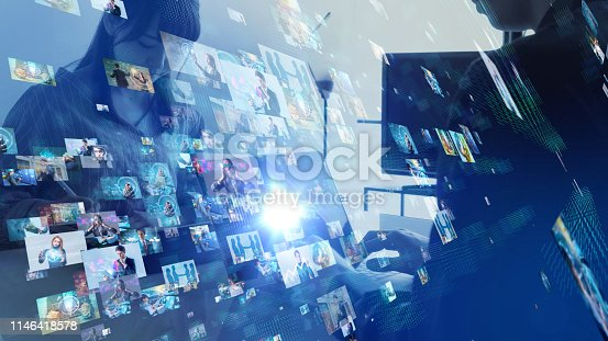 1029147344 istock photo Social networking concept. 1146418578