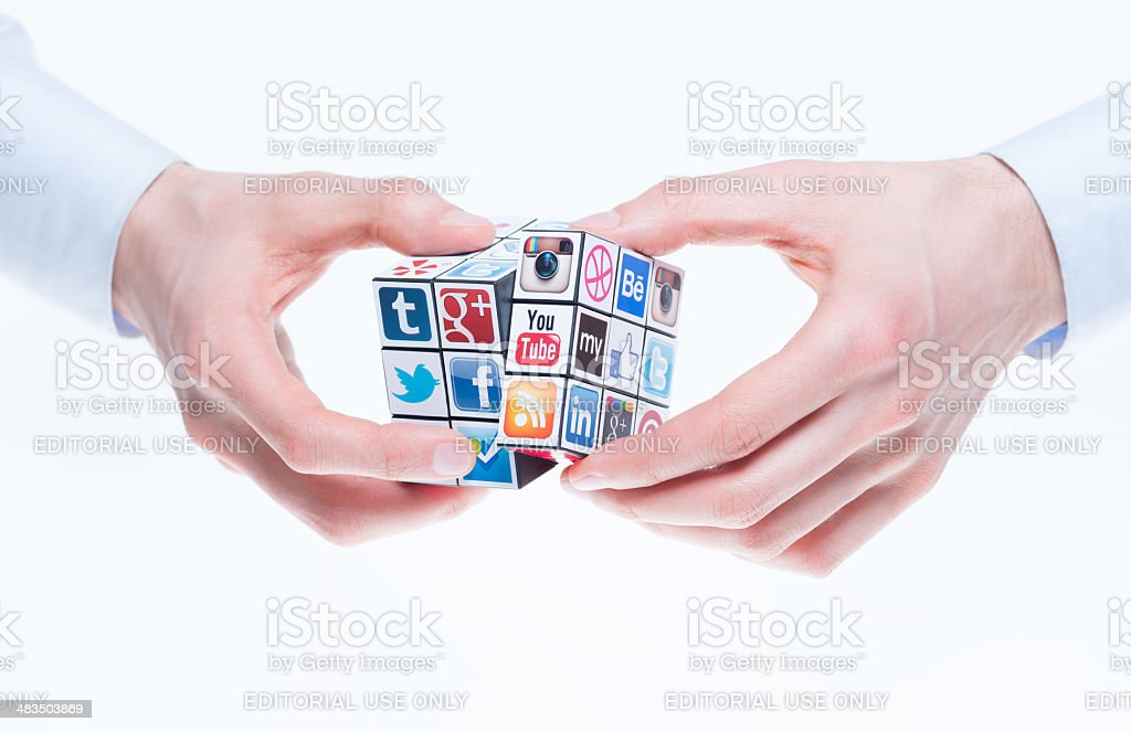 Social networking concept royalty-free stock photo