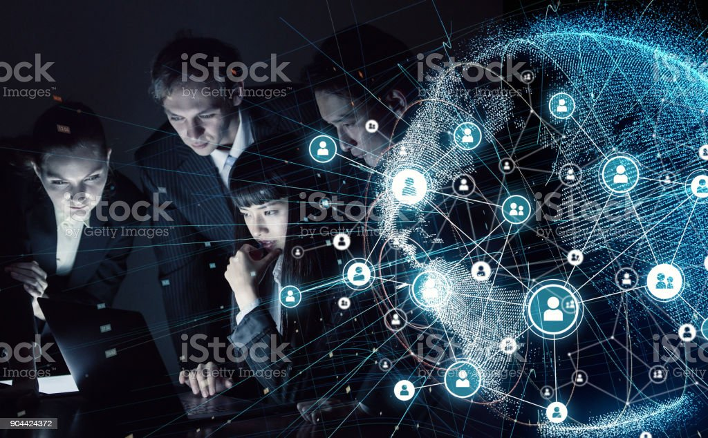 Social networking concept. stock photo