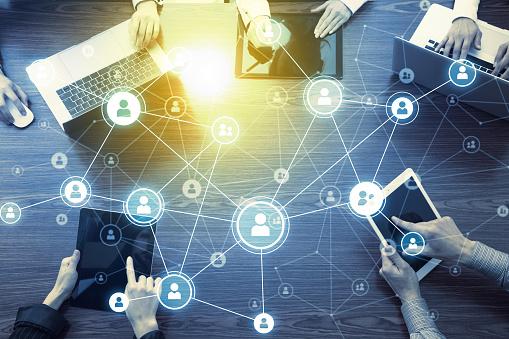 Social Networking Concept - zdjęcia stockowe i więcej obrazów Abstrakcja