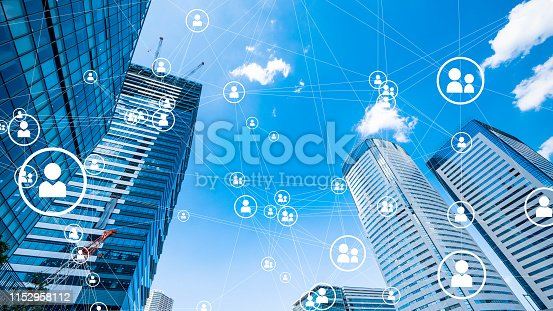 1180187740istockphoto Social networking concept. Smart city. 1152958112