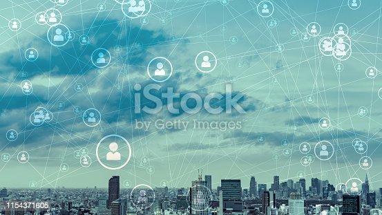 1180187740istockphoto Social networking concept. Smart city. 1154371605