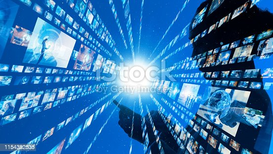 1029147344 istock photo Social networking concept. Streaming video. 1154382535