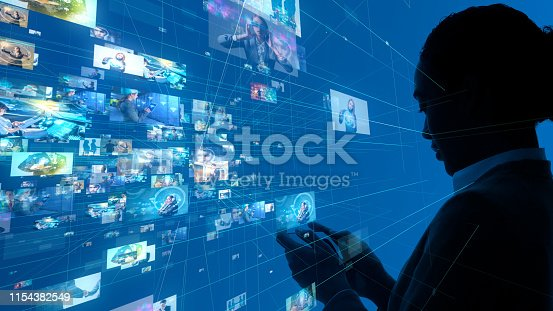 1029147344 istock photo Social networking concept. Streaming video. 1154382549