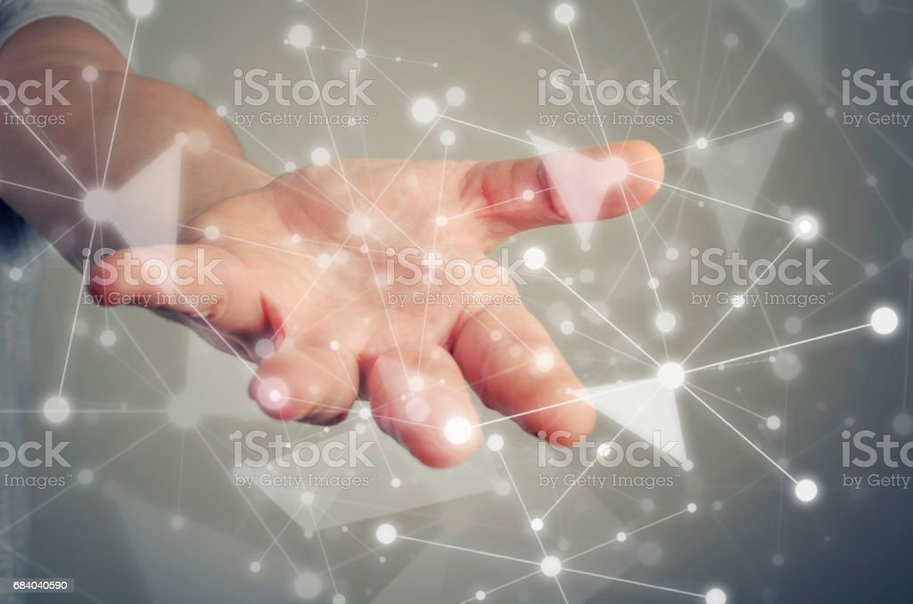 Social networking connection stock photo