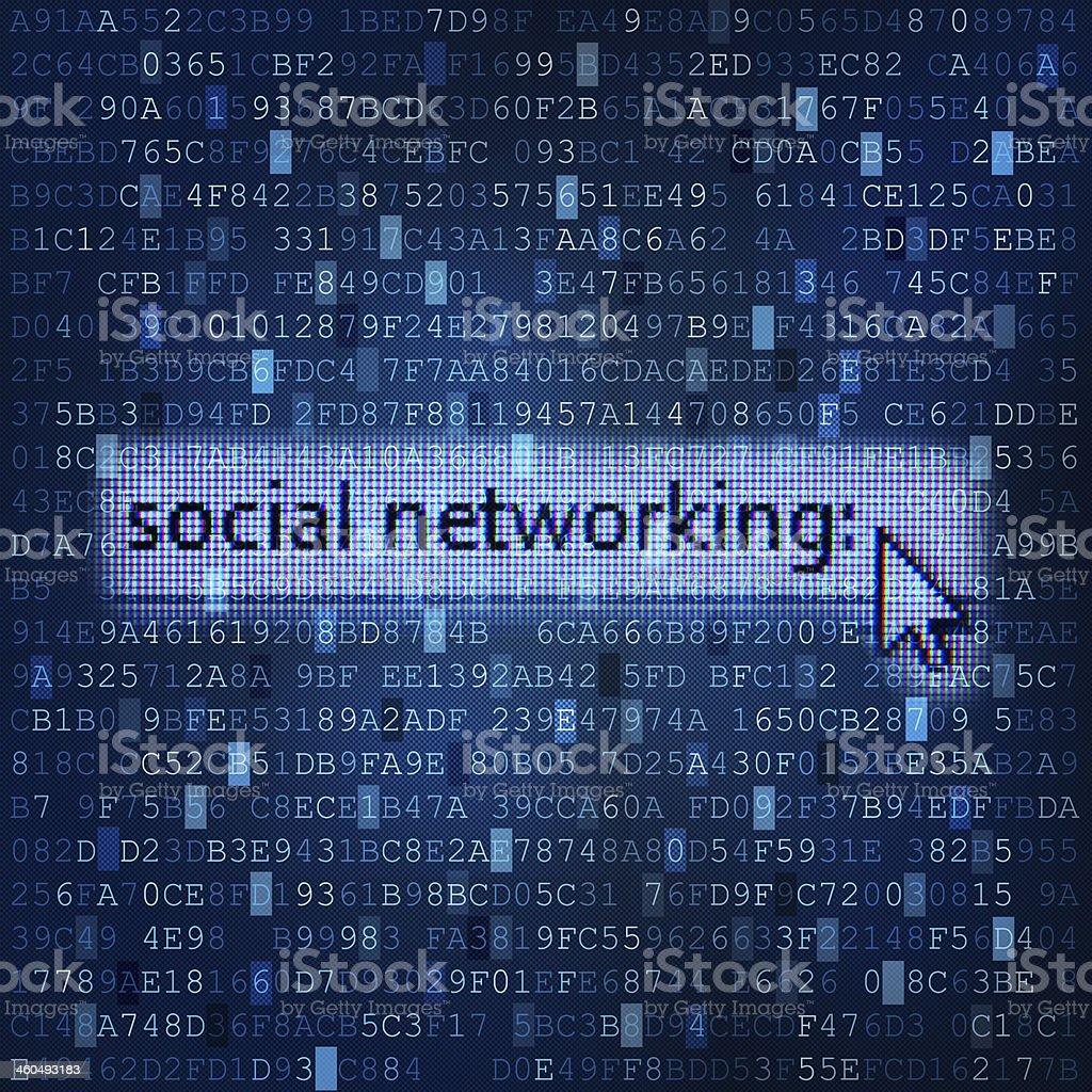 Social networking digital media background royalty-free stock photo