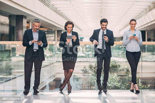 istock Social networking in business 692200214