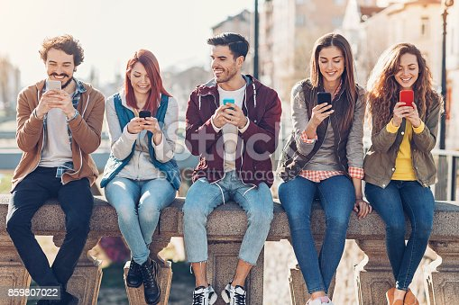 istock Social networking in the city 859807022