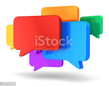 istock Social networking media, chat, messaging and communication concept 147791098