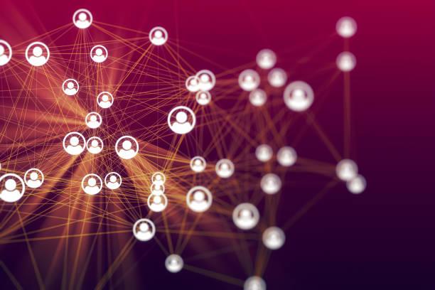 social networking lub pojęcie dystansowania - sieć komputerowa zdjęcia i obrazy z banku zdjęć