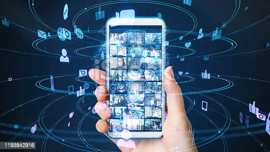 913641852 istock photo Social networking service concept. communication network. 1193842916