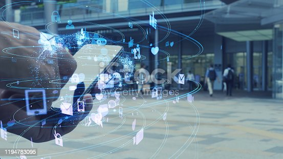 861146256 istock photo Social networking service concept. communication network. 1194783095