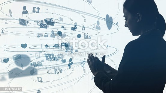 913641852 istock photo Social networking service concept. communication network. 1194783112
